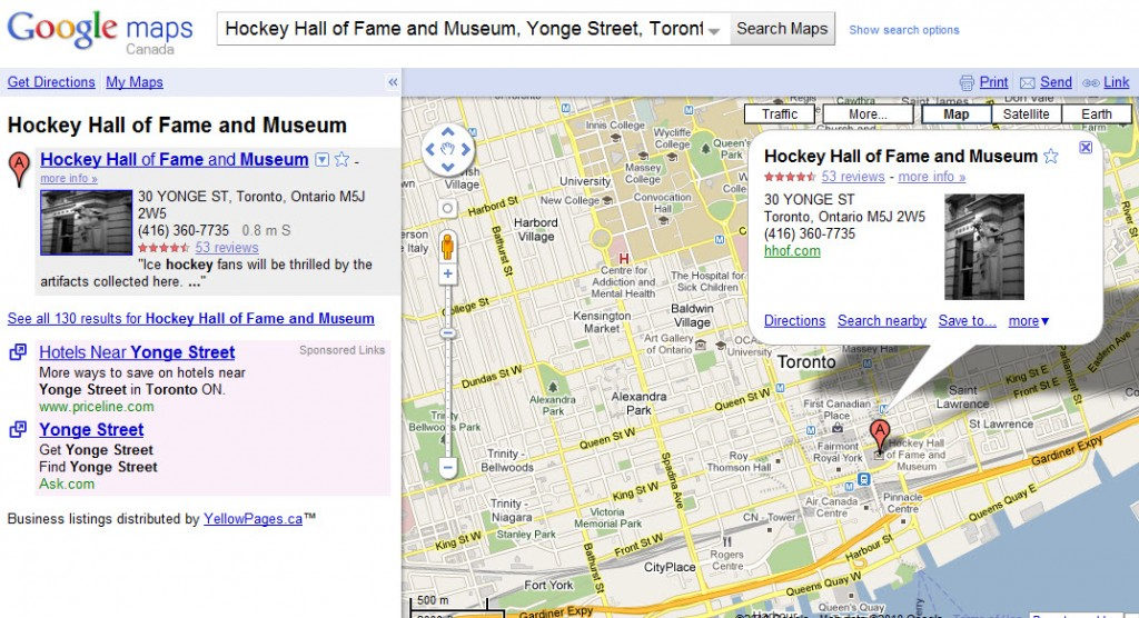 GOOGLE MAPS IN TORONTO